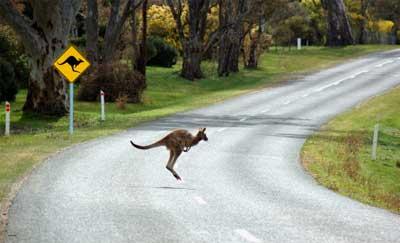Einsame Straße in Australien