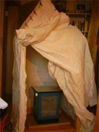 Sauna Tipi mit Heizung