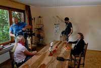 Dreharbeiten Fernsehbeitrag Gift am Arbeitsplatz mit CSN