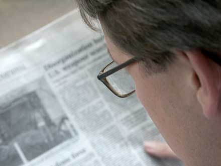 Zeitung berichtet über Man mit Chemikalien-Sensitivität
